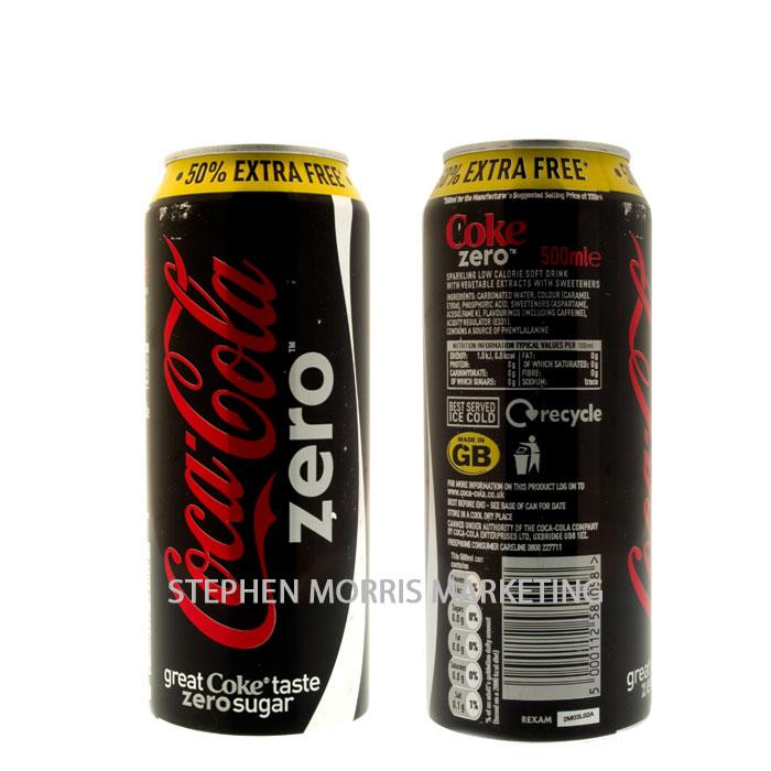 Coca-Cola Zero Can  Product Code CCC-0007