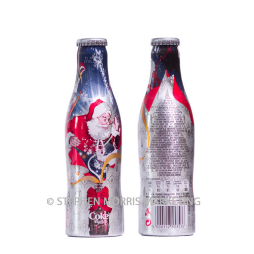 Aluminium Belgian 2007 Christmas 'light' bottle. Product Code CCC-0035.-0