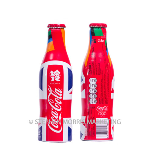UK Olympics 2012 Union flag aluminium bottle. Product Code CCC-0057-0