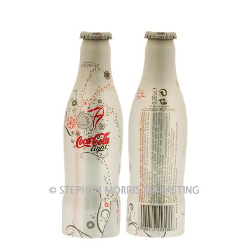 Belgium 2007 New Year Coca-Cola light aluminium bottle. Product Code CCC-0074-0